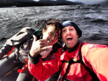 Hi-res image - Ocean Signal - Carl and Maria Sawyer in Loch Ness during the Great Glen Challenge