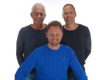 Hans Ganebro, Peter Markstedt (sittande), Mikael Arnåsen