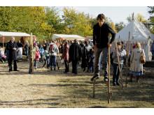 Stylter til historisk marked på Frilandsmuseet