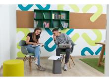Kommunikationszonen bieten Raum für Austausch und Kreativität