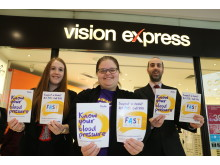 Amid frantic festive season, Leicester optician hosts healthcare initiative to combat risk of stroke