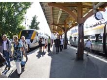 Värmlandstrafik inför gratis internet ombord på tåg och buss - Karlstad järnvägsstation