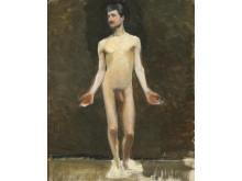 Marie Krøyer: Stående mandlig model med udbredte arme
