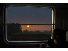 Utsikt från nattåget