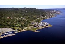 Flyfoto av eiendommen i dag