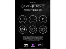 """Game of Thrones - """"Gör det själv"""" klisterkarta"""