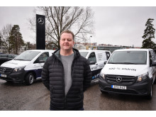 Eldrivna Mercedes-Benz eVito levererades till Budcompaniett i Stockholm