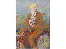 Olli Lyytikäinen, Flyende Hamlet / Fleeing Hamlet, 1976. Akvarell och pastell / Watercolour and pastel