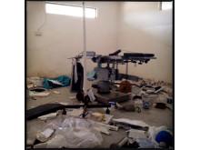 Operationssalen på sjukhuset i Leer är förstörd. Bild: Michael Goldfarb.