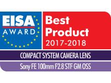 EISA Award Logo Sony FE 100mm F2