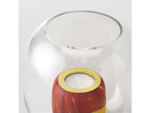 Fusa tealight holder red, detail picture