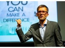 Mattias Goldmann, VD på Fores, var Keynote Speaker på konferensen Arctic Solar - solel i nordiskt klimat