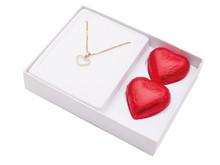 Diamantsmykke med sjokolade 998,-