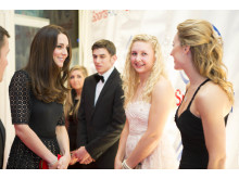 SportsAid's Patron The Duchess of Cambridge meets SportsAid alumna Amy Williams MBE at the SportsBall in 2013