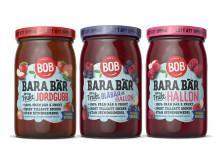 BOB Bara bär och frukt i tre smaker
