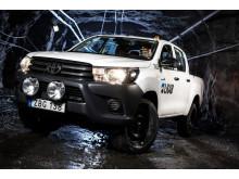 LKAB har närmare 400 Toyota Hilux i sin tjänst