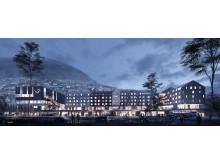 Nytt konferansehotell på Voss - nattestid