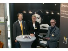 Klaus Giebels, Susanne Leuthner, Harald Fröhlich (SINFONIMA) auf dem DOT 2015