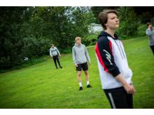 Thomas Kirkeby Junge igang med rundbold