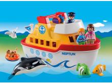 Ganz groß für die Kleinsten: Mein Schiff zum Mitnehmen von PLAYMOBIL 1.2.3
