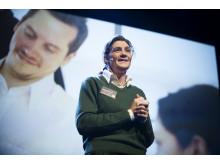 Marie Hallander Larsson talare på CSR-galan Visa vägen 2012