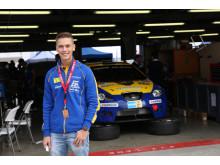 Team nr 21 med Simon Larsson på Dubai autodrome inför Dubai 24H