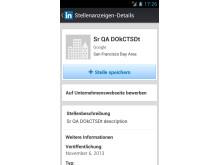Mobile Bewerbung mit LinkedIn: Stellenanzeige Details