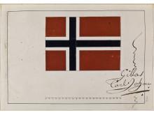 Karl Johan godkjenner det norske flagget