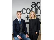 Stefan Berg och Cecilia Axélius, kontorschefer Accountor Karlstad