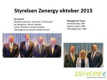 Styrelsen och ledningsgruppen i Zenergy oktober 2015
