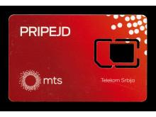 SIM-kort som använts under flykten till Sverige.