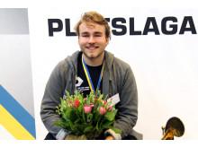 Guldmedaljör Olle Spetz från Viskastrandsgymnasiet i Borås