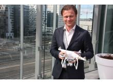 Konserndirektør Sigurd Austin i Gjensidige er opptatt av å ivareta sikkerheten knyttet til dronebruk.