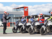 STR MC-lärare utbildning Honda Instituto de Seguridad, Spanien