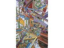 You Jin, Sprawling Bamboo, 2015, olja på duk, 150 x 100 cm