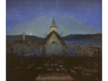 Natt/Night, olje på lerret, 1904, Harald Sohlberg. Trondheim kunstmuseum MiST