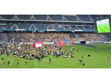 EM-festen: Sverige-Irland. Över 5 000 följde Sveriges match på Friends Arena.