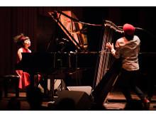 Hiromi Duet: Featuring Edmar Castañeda på Berwaldhallen, Stockholm Jazz Festival 2017