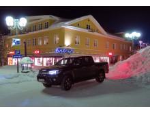 Toyota Hilux, populär bil i Kiruna - både i staden och nere i gruvan