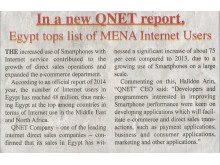 In a New QNET Report, Egypt tops List of MENA Internet Users