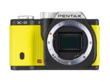 Pentax K-01 yellow front