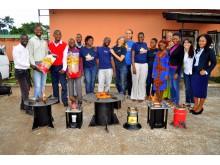 Pelletsspisar i Zambia klimatkompenserar fjärrvärme i Helsingborg