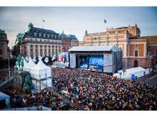 Stockholms Kulturfestival Gustav Adolfs torg (GAT) 2014
