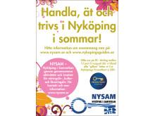 Handla - ät - trivs i Nyköping i sommar!