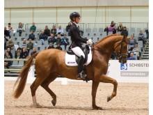 Ida-Linn Lundholm med hästen Dragon Welt.