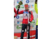 Aleksander Fjeld Andersen, blomsterseremoni, jaktstart menn ungdom, junior-VM