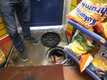 Op Batmobile - hiding place in shop floor Stoke NW04/15