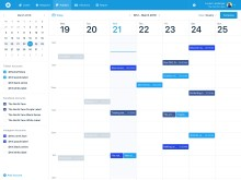 Screenshot of calendar view of Mention's Publish feature