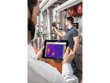 Smarta värmekameror med mobil eller surfplatta som en andra bildskärm