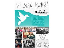 """Lördag 27 maj kl.13.30 blir det stort releaseparty av låten """"Vi står kvar!"""""""